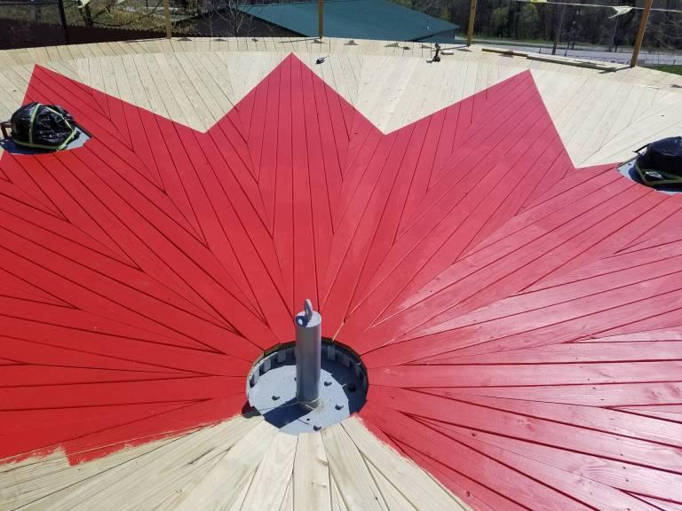 Firecracker deck painting