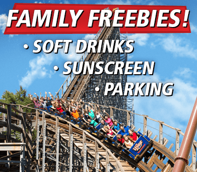 Family Freebies! Free Soft Drinks, Sunscreen & Parking at Holiday World & Splashin' Safari