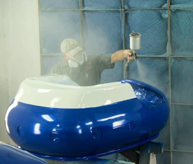Painter Joe Adding Clear Coat to Firecracker