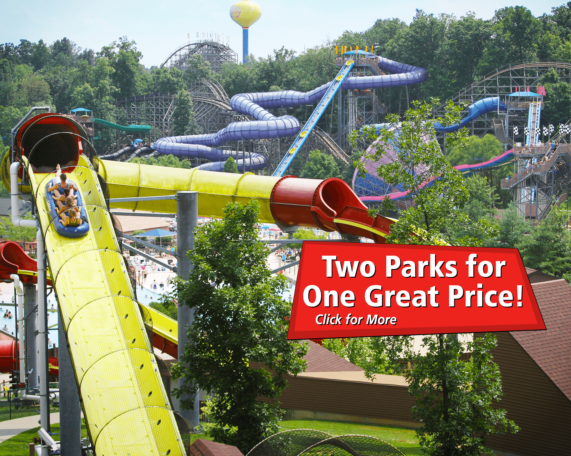 Two Parks for One Great Price! Click to purchase tickets now.