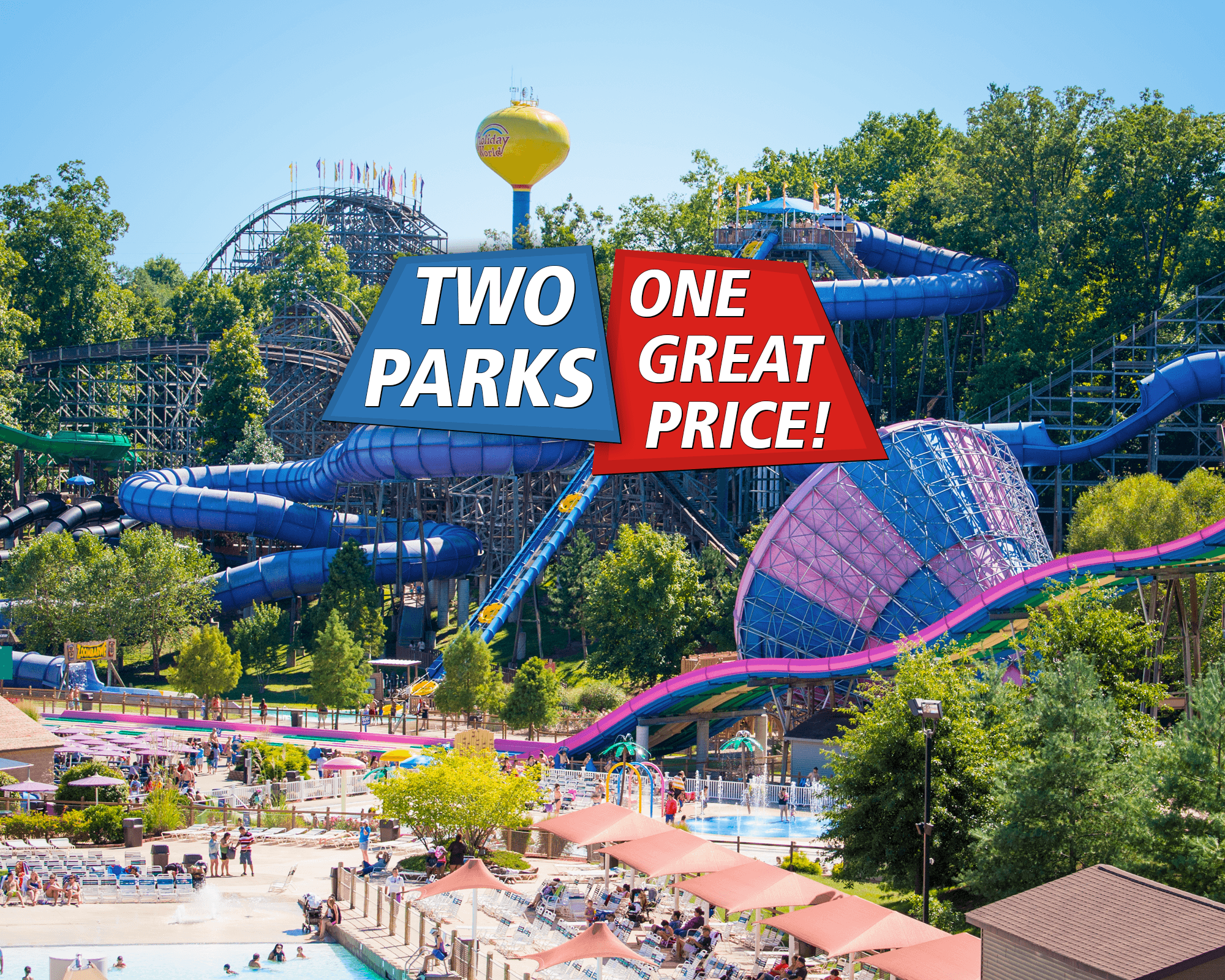Two Parks, One Price! Holiday World & Splashin' Safari