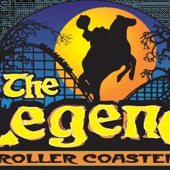 The Legend Wooden Roller Coaster Logo