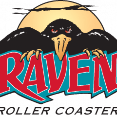 The Raven Wooden Roller Coaster Logo
