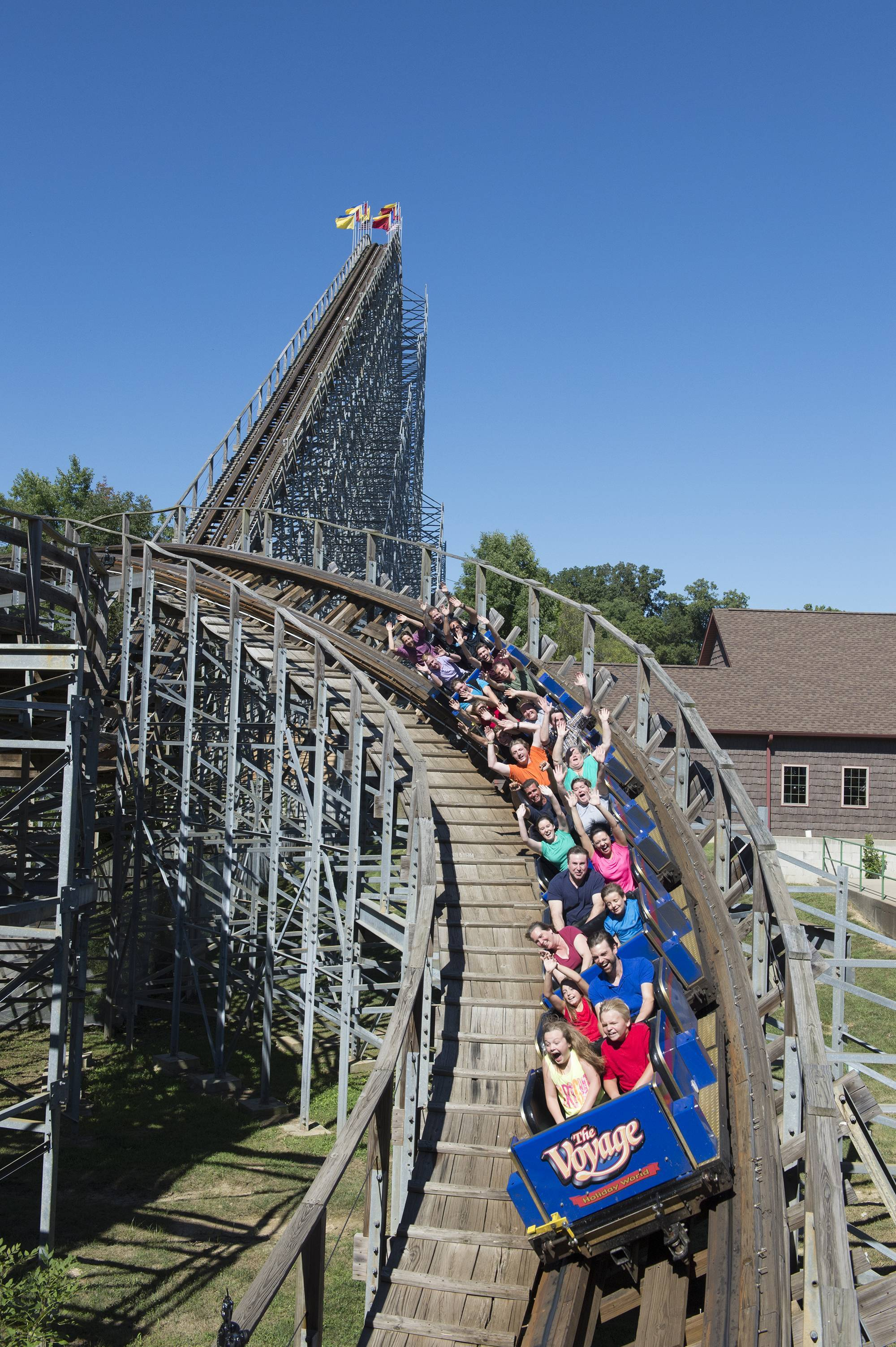 The Voyage Wooden Roller Coaster Holiday World Splashin Safari