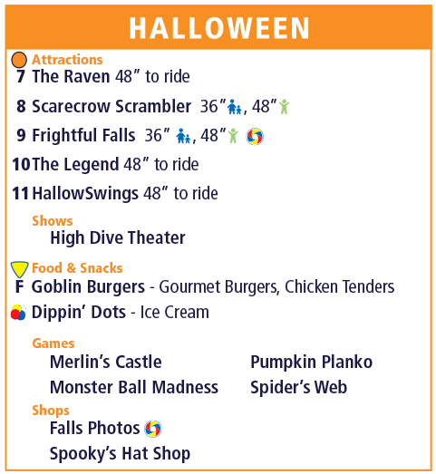 Holiday World Map Legend - Halloween