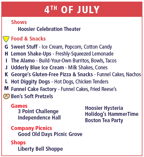 Holiday World Map Legend - 4th of July - Column 2