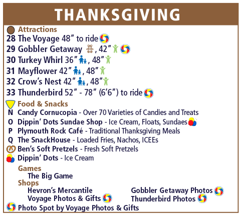 Holiday World Map Legend - Thanksgiving