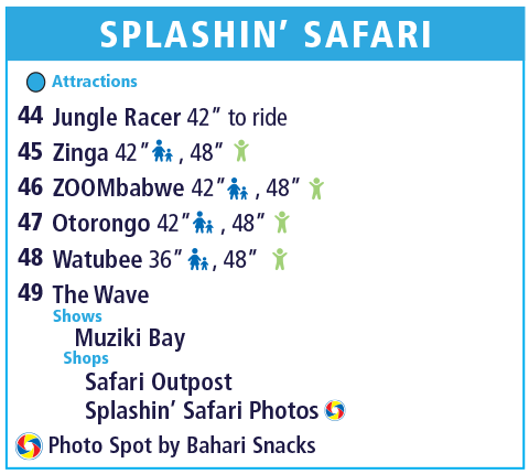 Holiday World Map Legend - Splashin' Safari - Column 2