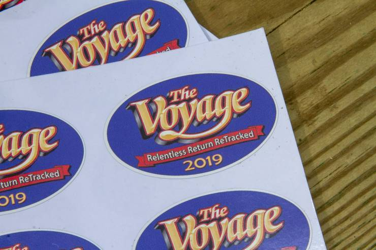 Hard-hat stickers for Voyage work