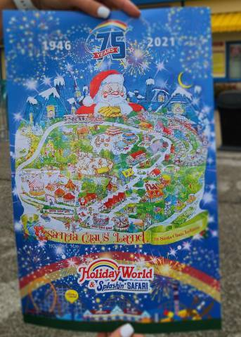image of reproduced park maps handed out