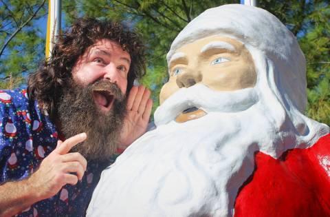 Mick & Santa Statue