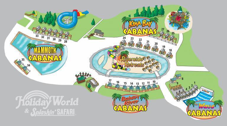 2018 Cabana Map with Riverside Retreats