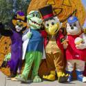 Costume Characters with Hay Bales