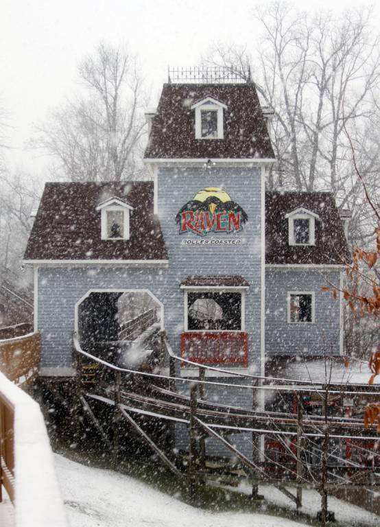 Raven Station in Heavy Snow