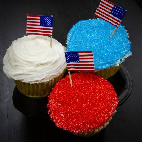 4th of July Red White Blue Cupcakes