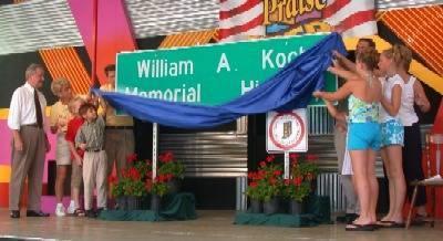 Bill Koch Highway sign unveiling