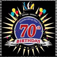 70th Birthday logo