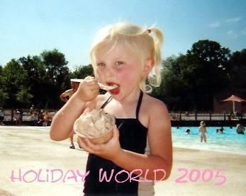 Bahari baby, eating ice cream
