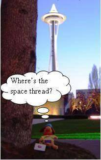 Holidog at the Space Needle
