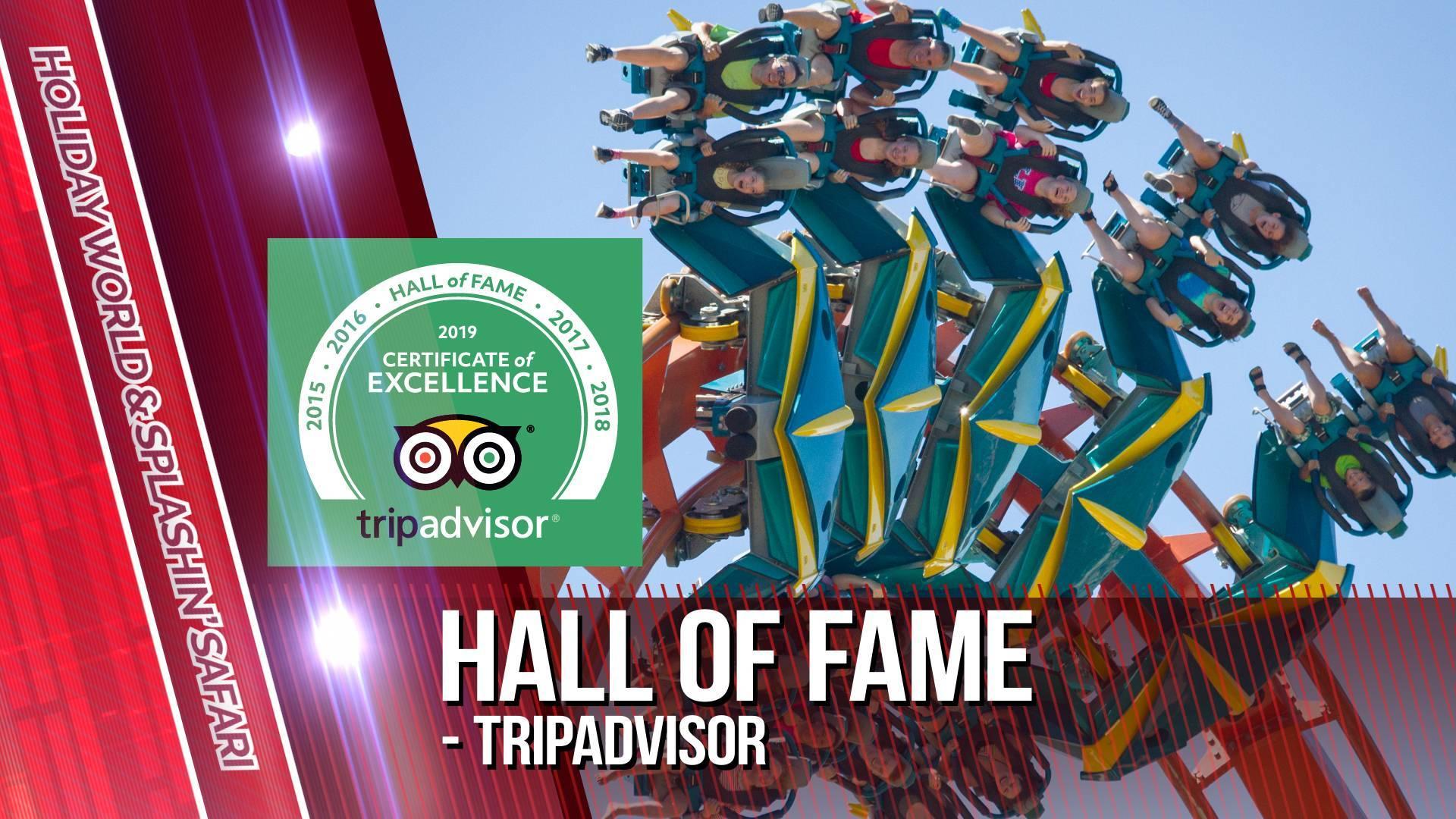 Holiday World & Splashin' Safari is in the TripAdvisor Hall of Fame!