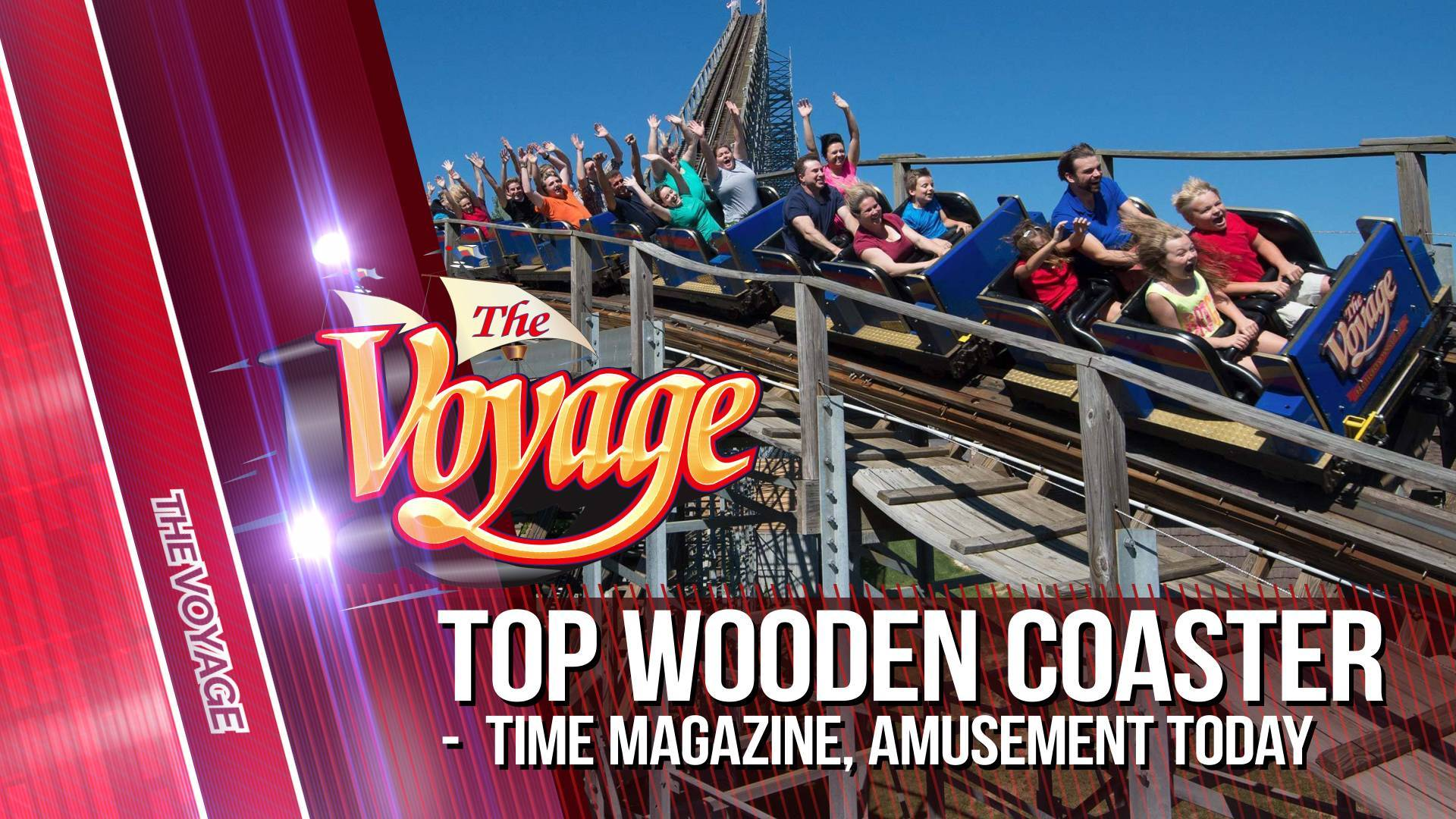 The Voyage is one of the top-rated wooden roller coasters in the nation!