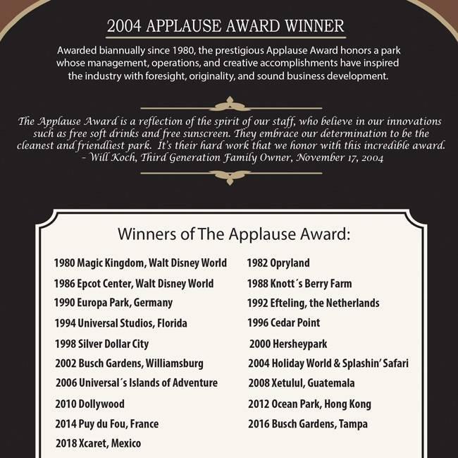 Applause Award sign