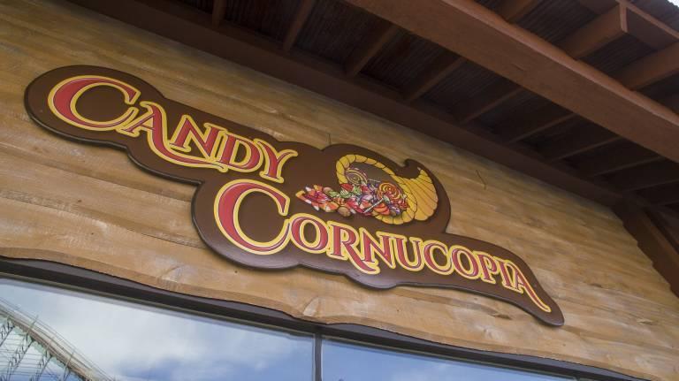 Candy Cornucopia Sign