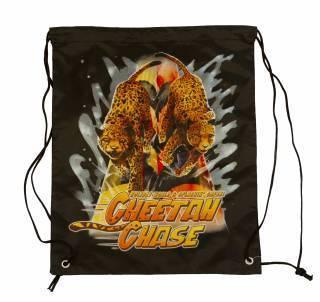 Product Image - Drawstring Bag with Cheetah Chase Artwork