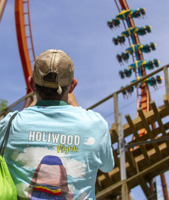 Coastershack event shirt with Thunderbird Vertical Loop