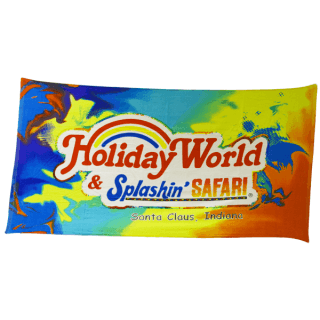 Colorful Holiday World Beach Towel