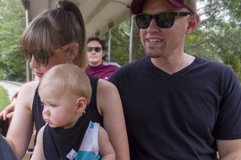 Crosby Family on Holidog Express