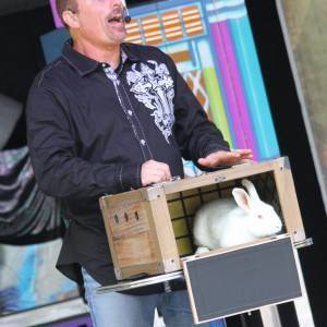 Don with Rabbit in Box