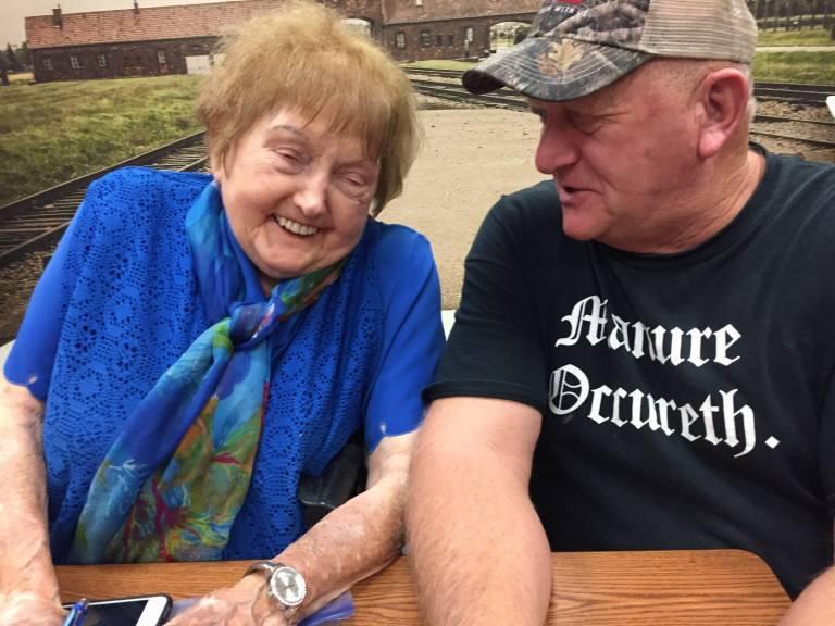 Eva Kor and Gary Werne