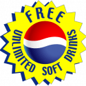 FREE Unlimited Soft Drinks