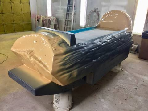 Frightful Falls Boat Before Painting