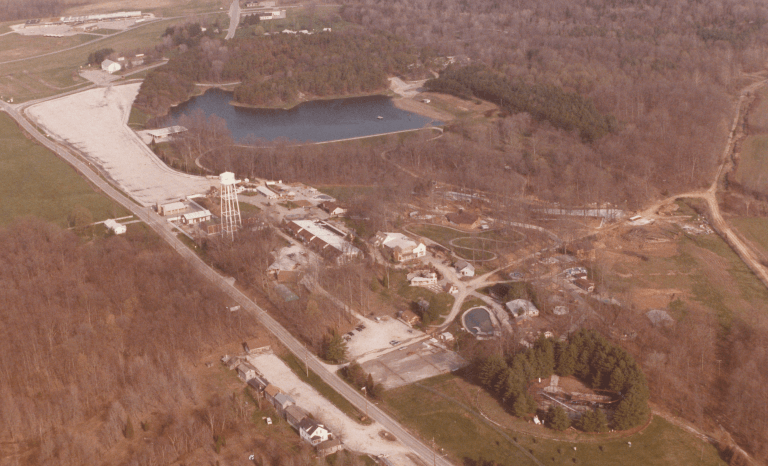 Aerial shot of Holiday World in 1984