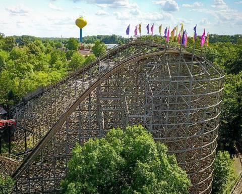 The Legend Wooden Roller Coaster
