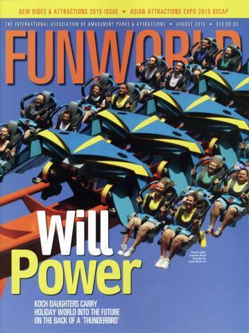 Lauren and Leah on Front Page of Funworld | Holiday World & Splashin' Safari
