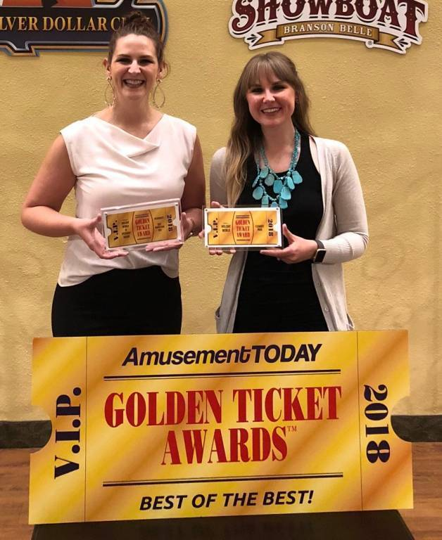 Leah & Lauren at the Golden Ticket Awards