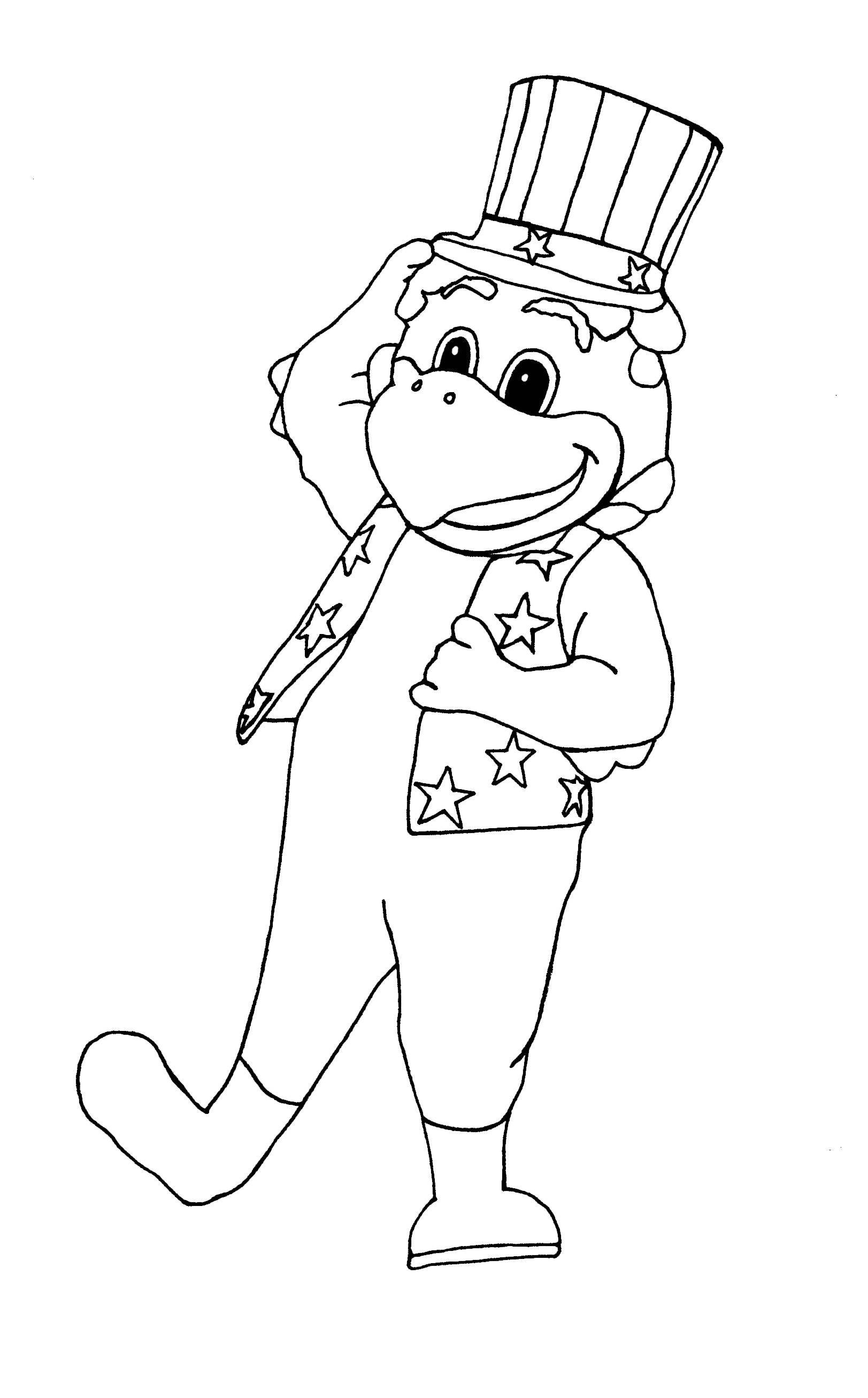 George the Eagle Coloring Page