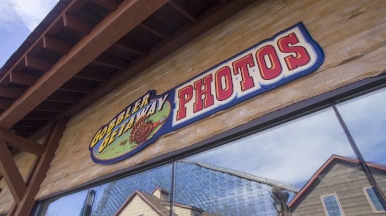 Gobbler Getaway Photos Sign