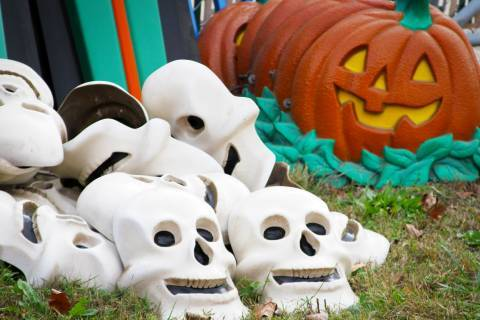 HallowSwings' Skeletons and Pumpkins