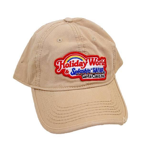 Adjustable Khaki Holiday World Logo Hat