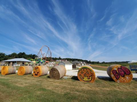 Haybales in progress
