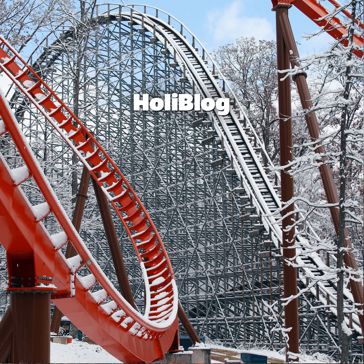 Snow on the coasters