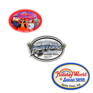 Holiday World Assortment of Oval Stickers