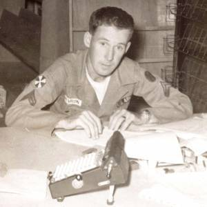 Joe Hevron, Army photo