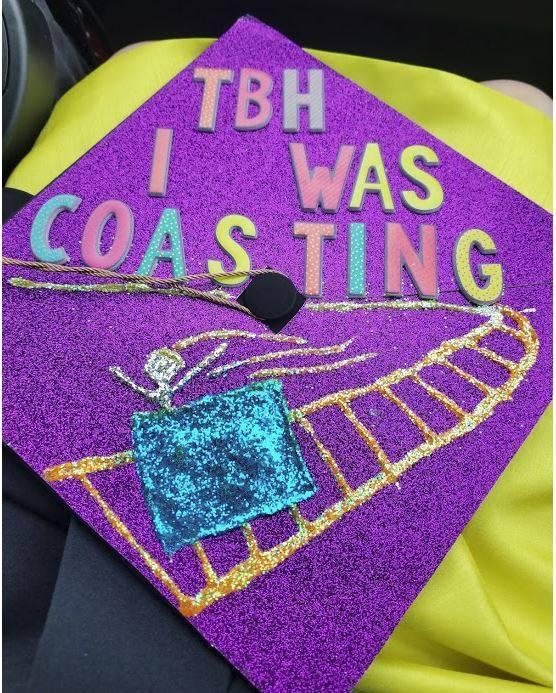 Leah's graduation cap