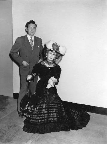 Lewis Sorensen with Lillian Russell Wax Figure