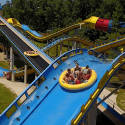 Mammoth Boat Going Over Hill